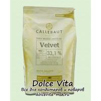 Белый шоколад Callebaut Velvet с пониженным содержанием сахара 1кг. (ожидается)