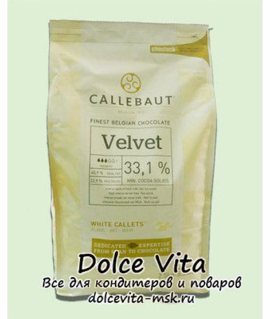 Белый шоколад Callebaut Velvet с пониженным содержанием сахара 0.5кг. (ожидается)