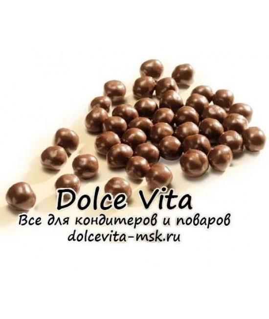 """Шоколадные драже """"Crispearls Cacao Barry жемчужины из молочного шоколада"""