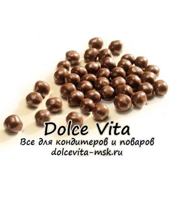 """Шоколадные драже """"Crispearls Cacao Barry темный шоколад"""