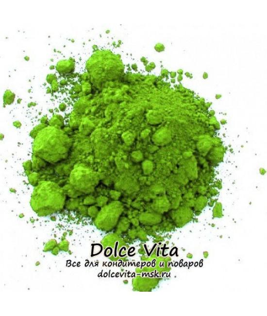 Краситель сухой водорастворимый Зеленое яблоко (цвет от салатового до насыщенного зеленого)