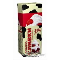 Натуральные молочные сливки крем Петмол 33%